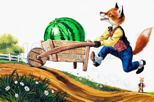 Brer Rabbit. From Brer Rabbit Annual 1976. Original artwork loaned for scanning by the Illustration Art Gallery.