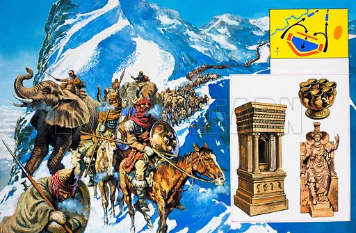 The Golden Cities: Carthage, part 3 – March of Vengeance. From Look and Learn no. 993 (21 March 1981).