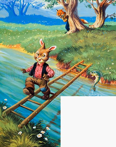 Brer Rabbit. From Once Upon a Time no.59. Original artwork loaned for scanning by the Illustration Art Gallery.