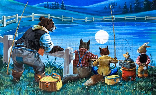 Brer Rabbit Fishing (illustration: Virginio Livraghi)