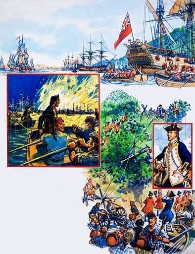 Scrapbook of the British Sailor: The Capture of Quebec. From Look and Learn no. 340 (20 July 1968). Original artwork loaned for scanning by the Illustration Art Gallery.