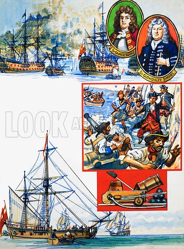 Scrapbook of the British Sailor: Capturing Gibraltar. From Look and Learn no. 334 (8 June 1968).