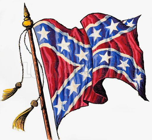 Confederate Flag. Source unknown. Original artwork loaned for scanning by the Illustration Art Gallery.