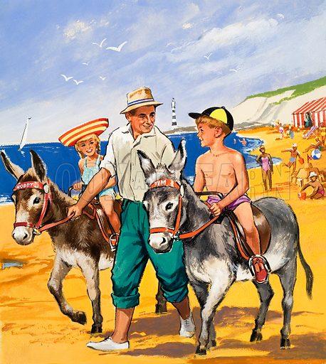 Donkey rides on the beach
