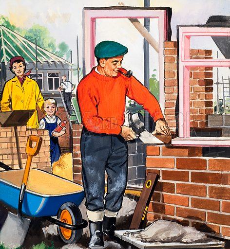 People You See: The Bricklayer. From Teddy Bear (2 May 1964). Original artwork loaned for scanning by the Illustration Art Gallery.