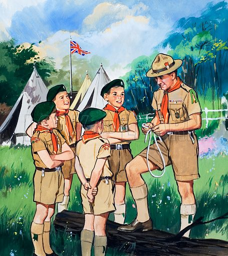 Boy scouts. Illustration from Teddy Bear (4 July 1964).