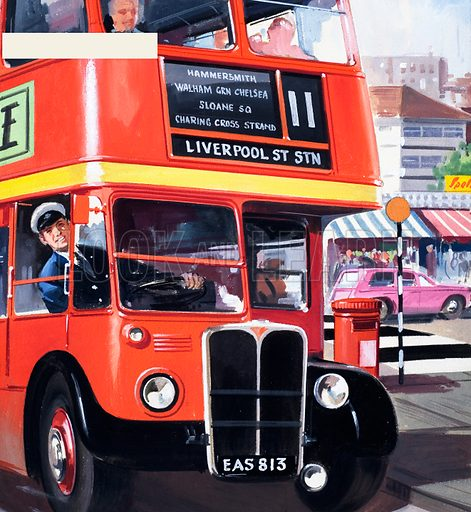 People You See: The Bus Driver. From Teddy Bear (30 May 1964). Original artwork loaned for scanning by the Illustration Art Gallery.