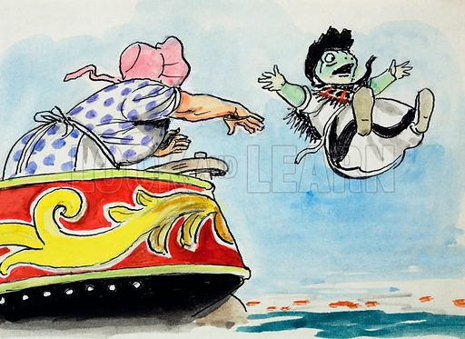 The Wind in the Willows.  Original artwork for Treasure.  Lent for scanning by the Illustration Art Gallery.