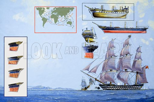 Maritime England: Home In Time for Tea. Form Look and Learn no. 1042 (27 February 1982). Original artwork loaned for scanning by the Illustration Art Gallery.