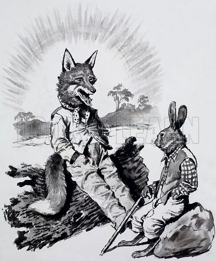 Brer Rabbit and Brer Fox. From Look and Learn no. 34 (8 September 1962). Original artwork loaned for scanning by the Illustration Art Gallery.
