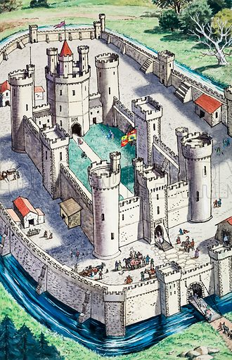 Jack and Jill and the Old Castle. From Jack and Jill Book no. 8 (1962). Original artwork loaned for scanning by the Illustration Art Gallery.
