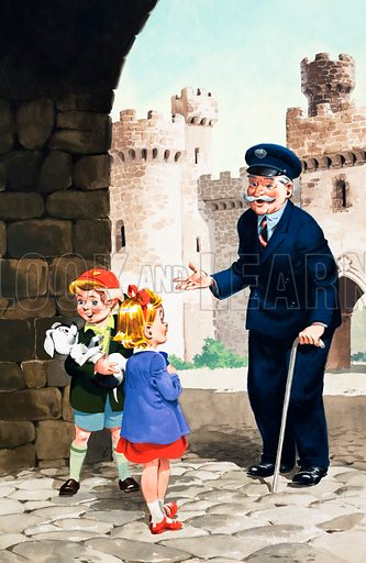 Jack and Jill and the Old Castle. From Jack and Jill Book no. 8 (1962).