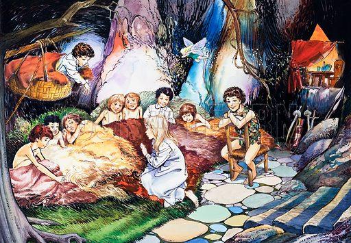 Peter Pan. Original artwork for Treasure.