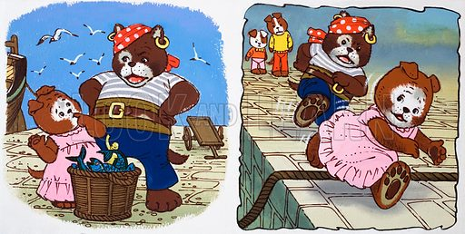 Teddy Bear. From Teddy Bear (date unknown). Original artwork loaned for scanning by the Illustration Art Gallery.
