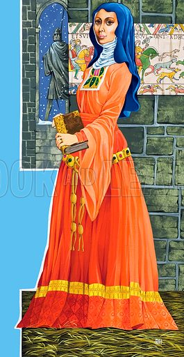 Queen Matilda. From Once upon a time Annual 1976. Original artwork loaned for scanning by the Illustration Art Gallery.