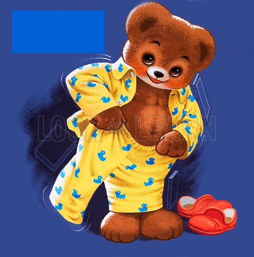 Teddy Bear (with hidden objects). Original artwork for Teddy Bear. Note: If image is required for licensing, hidden objects can be removed.