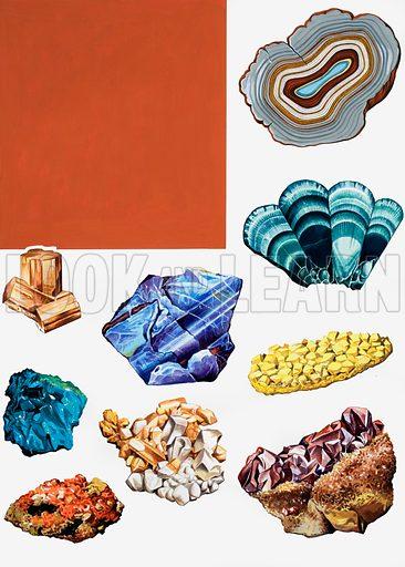 Semi-precious stones montage.