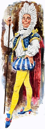 Unidentified 18th century dandy. Original artwork.