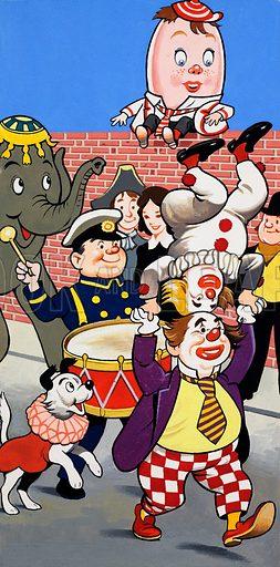 Clowns on parade.
