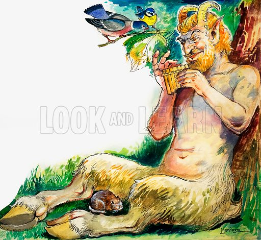Pan, the Greek god of nature.