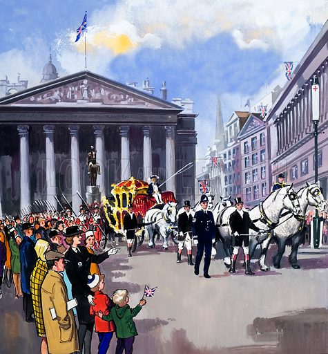 picture, Royal Exchange, Lord Mayor's Parade