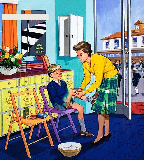 School nurse, picture, image, illustration