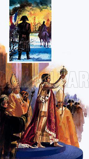 Coronation of Napoleon, picture, image, illustration