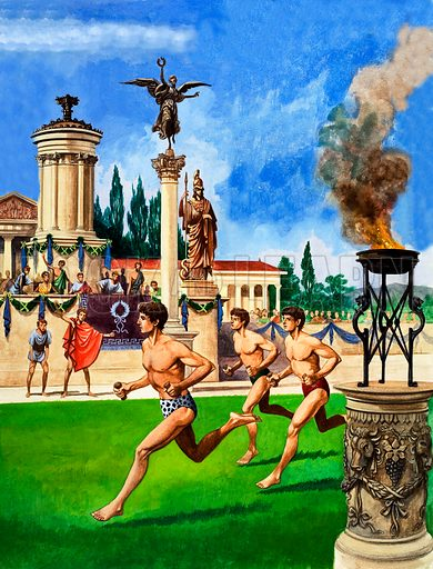 First Olympic Games, picture, image, illustration