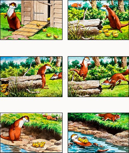Fliptail the Otter. From Playhour (reprinted in Jack and Jill, 18 April 1981).