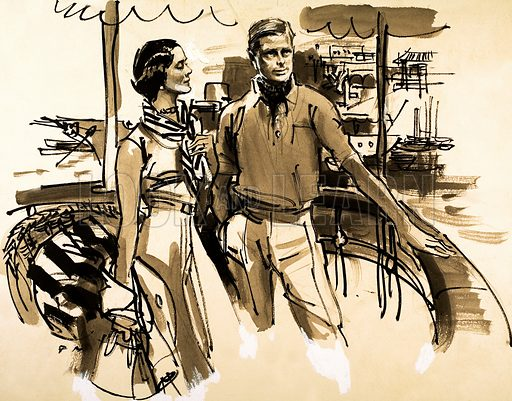 The Duke and Duchess of Windsor. Original artwork.