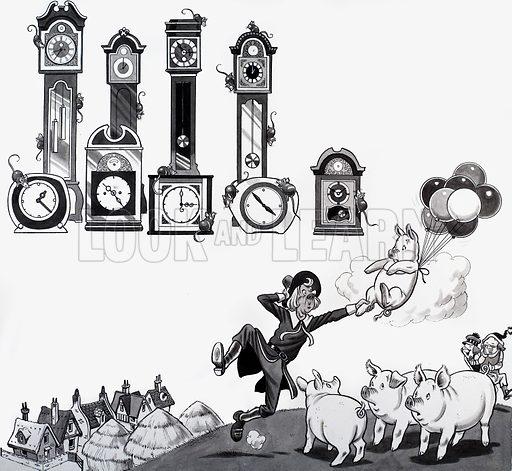 Nursery rhyme illustration. From Treasure (artwork dated 15 Oct).