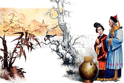 The Riddle. From Once Upon a Time no. 13. Chinese court magician turns a prince into a vase.