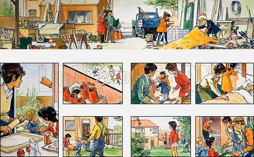 Mother Shows You How: fixing the chimney. From Teddy Bear (25 March 1972).