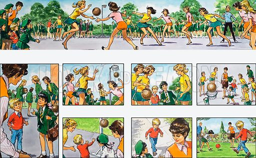 Mother Shows You How: playing basketball. From Teddy Bear (24 June 1972).