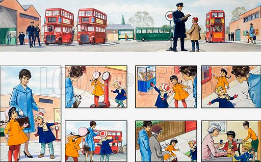 Mother Shows You How: at the bus station. From Teddy Bear (15 April 1967).