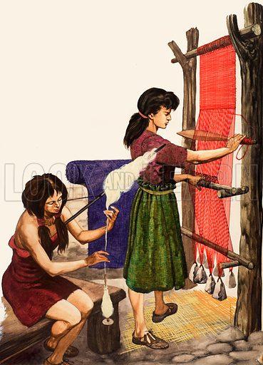 Weaving cotton. From Treasure (?).