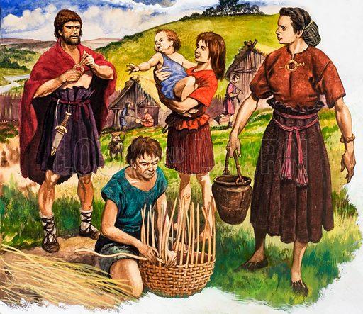 Weaving. Original artwork for illustration on p16 of Treasure issue no 6.