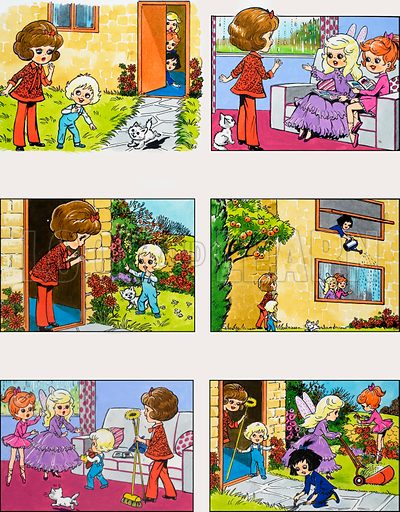 The Dolly Girls. From Playhour (29 August 1981). Original artwork loaned for scanning by the Illustration Art Gallery.