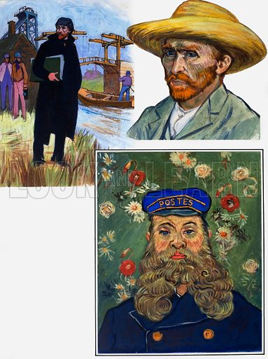 """Every Picture Tells a Story: """"How Beautiful is Yellow"""" (Vincent Van Gogh). From Look and Learn no. 494 (1 July 1971)."""