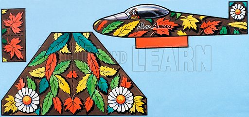 Mouse Airways. Cut out artwork for free gift (dated 23/6/84).
