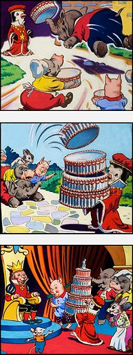 A Cake for His Majesty. From Jack and Jill Book of Nursery Rhymes (also in Teddy Bear annual 1979).