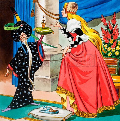 Princess Marigold. Original artwork loaned for scanning by the Illustration Art Gallery.