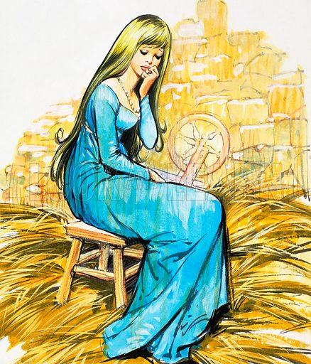 The Story of Rumpelstiltskin. From Playhour (1959). Original artwork loaned for scanning by the Illustration Art Gallery.