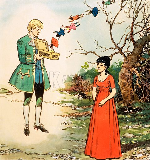 Princess Petal and the Green Page. From Playhour (1958). Original artwork loaned for scanning by the Illustration Art Gallery.