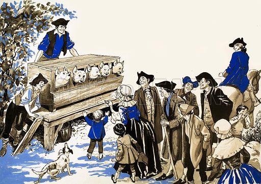 Tales from Many Lands: Urbain and his Pig Organ. From Treasure no. 14.