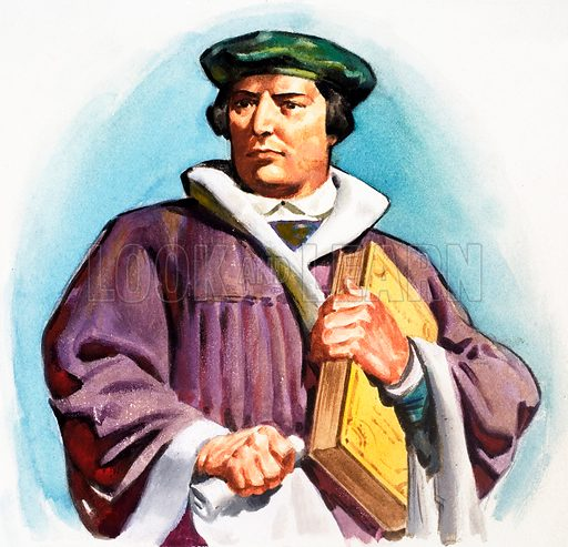 Martin Luther. Panel from cover of Look and Learn no. 154 (26 December 1964).