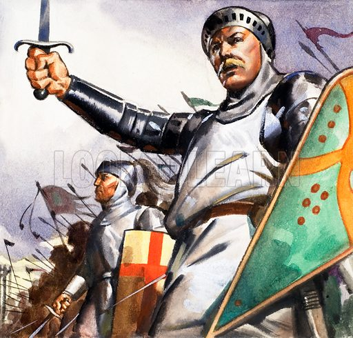 King Harold. Panel from cover of Look and Learn no. 145 (24 October 1964).