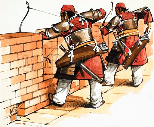 Archers at the wall.