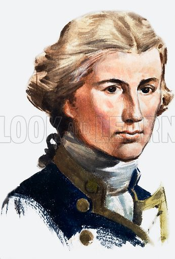 Horatio Nelson. Panel from the cover of Look and Learn no. 182 (10 July 1965).