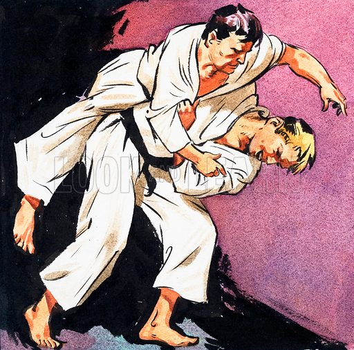 Black Belt Judo. Panel from cover of Look and Learn no. 233 (2 July 1966).